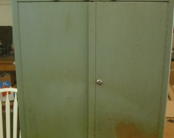 Industrial Wall-Mount Metal Tool Cabinet, Schlafhorst