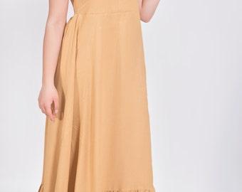 Womens  Viscose  Empire Waist, Maxi Dress, Plus size