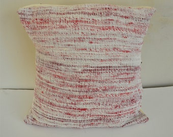 Handwoven recycled Sari Silk cushion