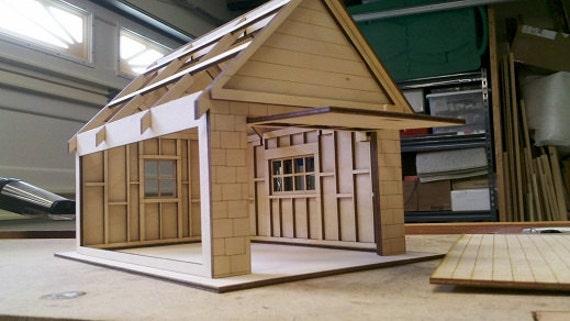Beautiful 1/2 Scale Dollhouse Garage Kit