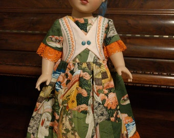"Long Geisha Asian Doll Dress_18"" Doll Clothes"
