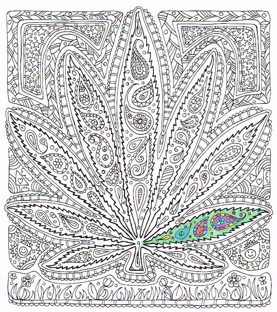 leaf coloring pages for adults - photo#7