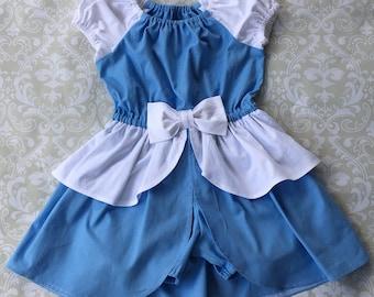 Cinderella Princess Romper Dress | Cinderella Ball Gown | Cinderella Birthday Party | Girls Princess Romper | Disney Vacation | Photo Shoot