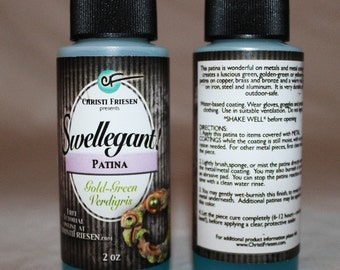 Green-Gold-Verdigris Patina 2 oz Bottle Swellegant