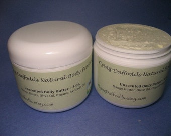 All-Natural Body Butter - Shea/Nut Oil FREE, Unscented, 8oz