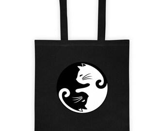 Cat Yin and Yang Tote bag