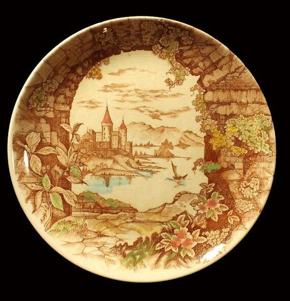Castle Harbor Ucagco China Japan Decorative Plate