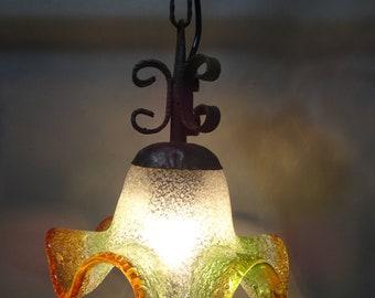 Vintage Murano Glass Pendant Light-Italy-CA 1960s