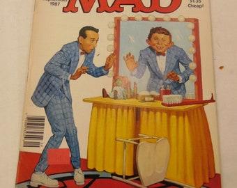 MAD Magazine Sept 1987 Pee Wee Herman, Crocodile Dundee, Issue 273