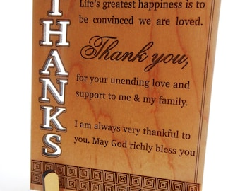 Thank You Plaque Gift for Friend - Boss - Appreciation Gifts - Thankful Gift for Friend or Priest - Thanksgiving Gift for Friend