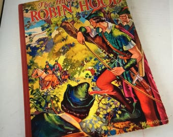 Vintage The Adventures of Robin Hood Hardback Book