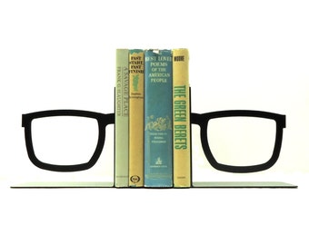 Split Glasses Bookends