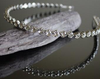 Swarovski Crystal Headband / Bridal Tiara / Bridal Hair Accessories / Crystal Bridal Headband / Wedding Headband / Diamante Headband