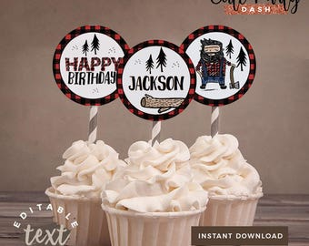 INSTANT DOWNLOAD - EDITABLE Lumberjack First Birthday Decor Lumberjack Party decorations Doodly Lumberjack First Birthday Decor