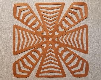 Brown Geometric Paper Art