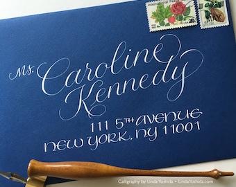 Calligraphy Envelope Addressing in Caroline Script