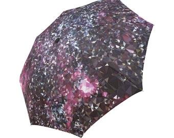 Purple Umbrella Burgundy Umbrella Geometric Pattern Umbrella Rainbow Umbrella Photo Umbrella Automatic Abstract Umbrella Abstract Umbrella