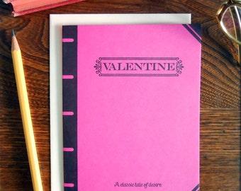 letterpress valentine book cover card classic tale of desire book lover