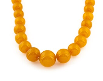 Natural Baltic Amber Necklace (40.8g) // Retro Beaded Necklace // Vintage Statement Jewellery