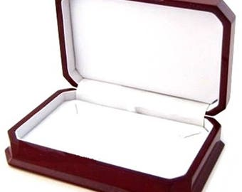 Elegant Cherry Wood Necklace Pendant or Chain Jewelry Display Gift Boxes Choose 1 2 6 or 12 Boxes
