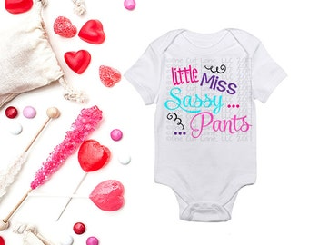 Little Miss Sassy Pants Svg Dxf Studio 3 PDF Files for Cutting Machines