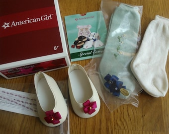 American Girl Felicity's Shoes, Stockings and Garters ... Felicity's First Release...Extremely Hard to Find...New in Original Box...Retired