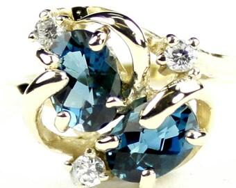 London Blue Topaz, 18Ky Gold Ring, R016