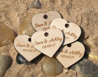 Wedding favor, Wedding favor tags, Wedding favor rustic, Wooden hearts, Wood tags, Wedding hearts, Wedding tags, Custom favor, Custom tags