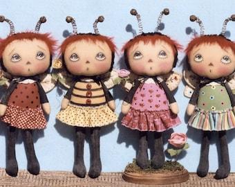 Primitive Cloth Doll PATTERN - Little Bugger Annies - HHF413