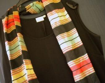 Striped scarf by grandma silk art silk? From pre-war vintage