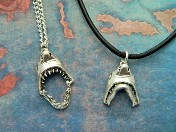 Shark necklace great white shark quirky jewelry leather shark necklace great white shark quirky jewelry leather necklace ocean jewelry mens gifts boys necklace shark teeth nautical gift aloadofball Gallery
