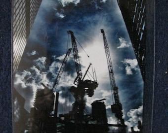 London Cranes Skyline Photographic Print