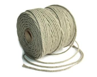 2.5 mm of Elegant Linen Rope - Natural Color = 1 Spool = 110 Yards = 100 Meters - Macrame Rope - Kitchen Rope