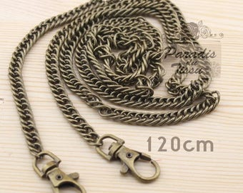 1 piece 120cm chain mesh bag with brass snap fastener for