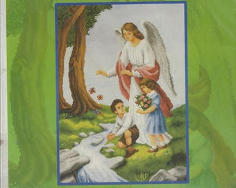 Guardian Angel in Counted Cross Stitch Chart DMC Limited Edition 1475PH-08 Religious Cross Stitch Chart Perfect for Nursery or Childs Room