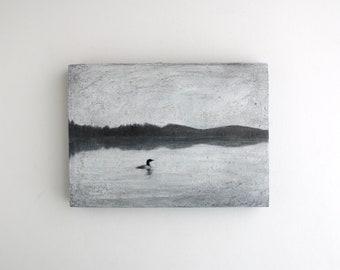Loon Lake Painting - 5 x 7