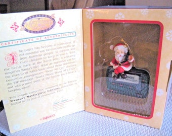 "ENESCO Santa & Pager Cellphone ""Beep Me Up"" - Masterpiece Treasury Limited Edition - 1997"