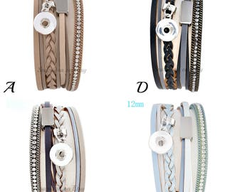 Magnetic snap bracelet fits mini snap charms that also fit Ginger Snaps jewelry and other 12 mm mini snap jewelry