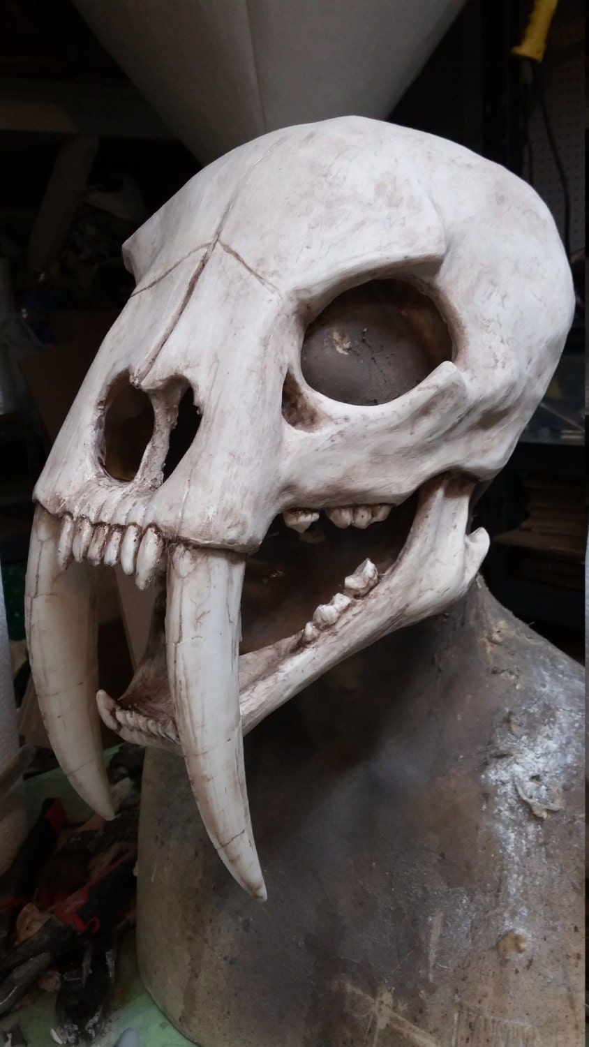 Sabertooth cat skull mask Oarfish Skull