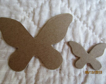 Chipboard Butterflies-Party Decor Blanks-Unfinished Embellishments-DIY Crafts-Cupcake Toppers