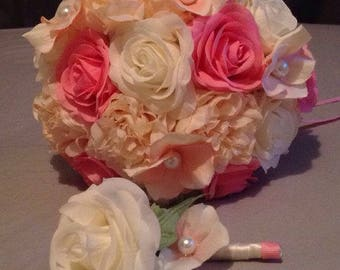 Spring Pinks bouquet package