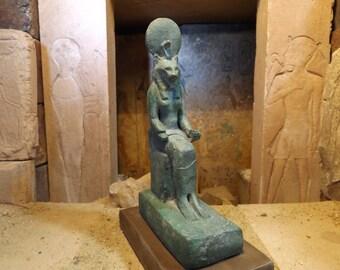Egyptian statue of Sekhmet - Lioness - Goddess - Mythology of ancient Egypt