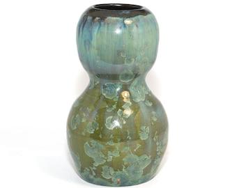 Avril Green Crystalline Glaze vase
