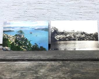 Set of 2 Vintage Japanese Postcards, Nara Hotel Japan, Tato-Kai Seto Island, 1960s-1970s