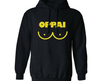 Oppai Graphic Lines Men's Hoodie