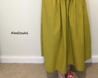 Cotton elastic waistband skirt, cotton skirt, elastic Waist skirt, summer skirt, casual wear