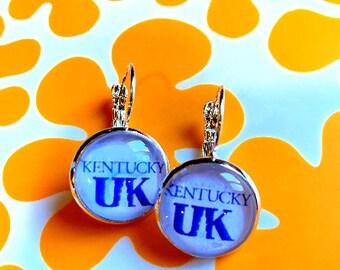 University of Kentucky WildCats cabochon earrings- 16mm