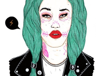 Celebrity Skin - Art Print - Hole - Courtney Love - Adore Delano