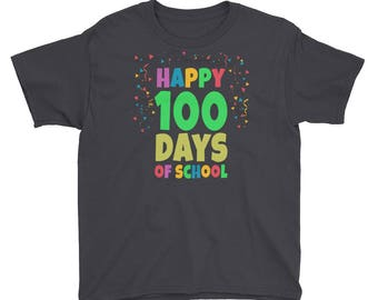 Happy 100 Days of School - 100 days of school - 100 days smarter - school shirt - 100th day of school - 100 days shirt - 100th day shirt