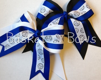 Small Volleyball Hair Bow ~ Made to Order